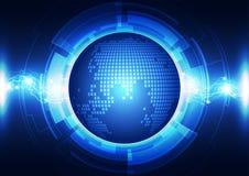 Abstracte wereldenergietechnologie, vectorachtergrond Royalty-vrije Stock Afbeelding
