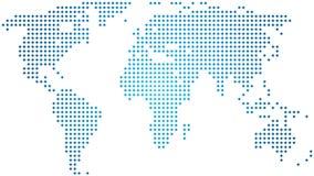 Abstracte wereldkaart Stock Fotografie
