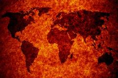 Abstracte wereldkaart Stock Afbeelding