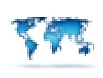 Abstracte wereldkaart Stock Foto