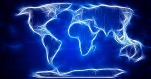 Abstracte wereldkaart. Bluredkaart. Stock Fotografie