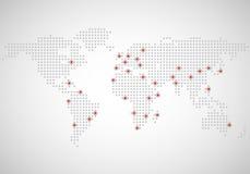 Abstracte wereldkaart van punten Stock Foto