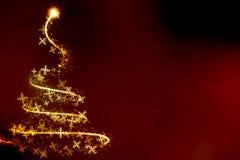 Abstracte wervelende Kerstmisboom Royalty-vrije Stock Afbeeldingen