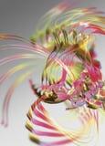 Abstracte wervelende linten Stock Fotografie
