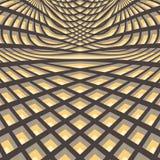 Abstracte wervelingsachtergrond Patroon met optisch Stock Afbeelding