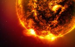 Abstracte wetenschappelijke achtergrond - planeten in ruimte, nevel en sterren Elementen van dit die beeld door NASA-NASA wordt g stock foto's