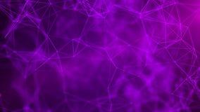 Abstracte wetenschapsachtergrond Futuristische 3D technologie De abstracte achtergrond van de muziek Grote gegevensvisualisatie h royalty-vrije stock afbeelding