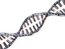 Abstracte wetenschapsachtergrond met DNA-bundels 3d Stock Foto's