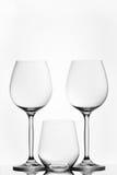 Abstracte wijnglazen Royalty-vrije Stock Foto