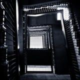 Abstracte windende trap Stock Afbeeldingen