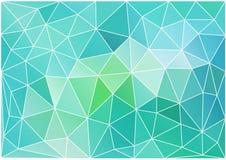 Abstracte wintertalings lage polyachtergrond, vector Stock Fotografie