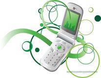 Abstracte witn telefoon als achtergrond Stock Afbeeldingen
