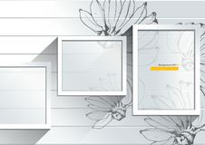 Abstracte Witte achtergrond met Banaanhand getrokken illustratie royalty-vrije illustratie