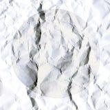Abstracte witte achtergrond van verfrommeld Witboekblad vector illustratie