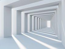 Abstracte witte architectuur Stock Afbeelding