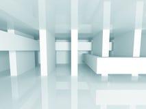 Abstracte Witte Architectuur Futuristische Achtergrond Royalty-vrije Stock Afbeelding