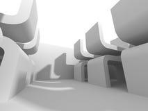 Abstracte Witte Architectuur Futuristische Achtergrond Royalty-vrije Stock Afbeeldingen