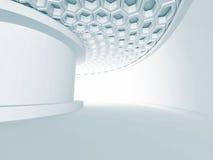 Abstracte Witte Architectuur Futuristische Moderne Achtergrond Royalty-vrije Stock Fotografie