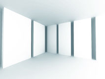Abstracte witte architectuurachtergrond Lege Zaal Moderne Interi Royalty-vrije Stock Foto
