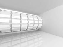 Abstracte witte architectuurachtergrond Modern binnenland Royalty-vrije Stock Afbeelding