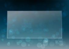 Abstracte witte bokeh vectorillustratie als achtergrond Stock Afbeeldingen