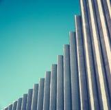 Abstracte Witte Concrete Architectuur Stock Foto