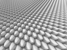 Abstracte Witte de Oppervlakteachtergrond van het Kegelspatroon stock illustratie