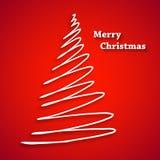 Abstracte Witte gemakkelijke Kerstboom editable allen Royalty-vrije Stock Foto's