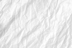 Abstracte witte gevouwen document textuur als achtergrond Royalty-vrije Stock Afbeelding