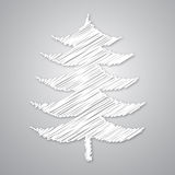 Abstracte witte Kerstmisboom Vector Illustratie