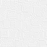 Abstracte witte labyrintachtergrond Naadloos patroon royalty-vrije illustratie