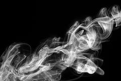 Abstracte witte rook op zwarte achtergrond Royalty-vrije Stock Foto's