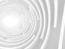 Abstracte Witte Tunnel Lichte Achtergrond Stock Afbeelding