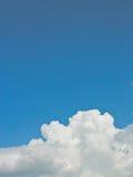 Abstracte witte wolken Stock Fotografie