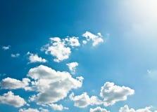 Abstracte witte wolken Stock Afbeeldingen
