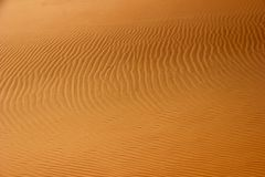 Abstracte woestijnscène Zandpatroon stock foto