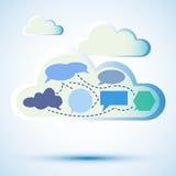 Abstracte wolk gegevensverwerking Stock Fotografie