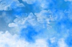 Abstracte wolken stock illustratie