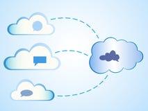 Abstracte wolken gegevensverwerking Royalty-vrije Stock Afbeeldingen