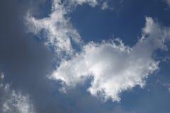 Abstracte wolkenachtergrond Stock Afbeelding
