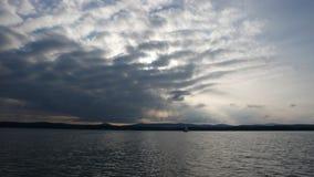 Abstracte wolkenachtergrond Royalty-vrije Stock Afbeeldingen