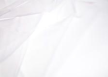 Abstracte zachte witte stoffenachtergrond Royalty-vrije Stock Afbeeldingen