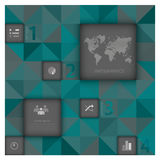 Abstracte Zaken Als achtergrond Infographic Royalty-vrije Stock Foto