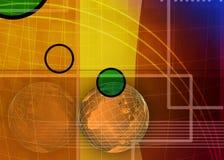 Abstracte zaken en de achtergrond van IT stock foto