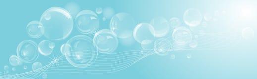 Abstracte zeepbelsachtergrond royalty-vrije illustratie