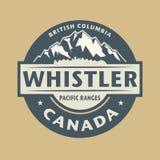 Abstracte zegel met de naam van stadsfluiter in Canada stock illustratie