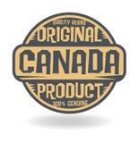 Abstracte zegel met tekst Origineel Product van Canada royalty-vrije illustratie