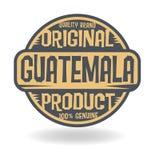 Abstracte zegel met tekst Origineel Product van Guatemala royalty-vrije illustratie