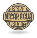 Abstracte zegel met tekst Origineel Product van Nicaragua vector illustratie
