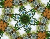 Abstracte zes-definitieve ster met patronen. Stock Fotografie